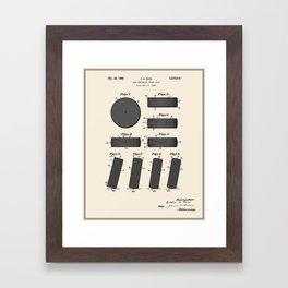 Hockey Puck Patent - Colour Framed Art Print
