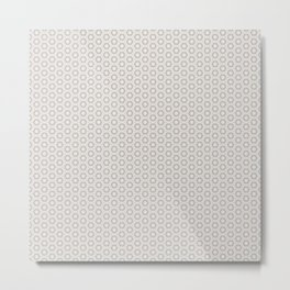 Hexagon Light Gray Pattern Metal Print