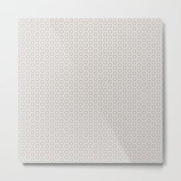 Hexagon Light Gray Pattern Metal Print