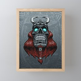 Valhalla Awaits Framed Mini Art Print
