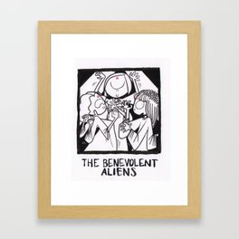 The Benevolent Aliens Framed Art Print