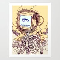 computer Art Prints featuring COMPUTER by Witnesstheabsurd