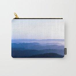 Layers Of Parallax Purple Mountains Lavender Violet ombre Gradient Landscape Minimalist Colorful Pho Carry-All Pouch