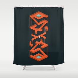 Monument Maze Shower Curtain