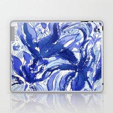 Blue flowers. Laptop & iPad Skin