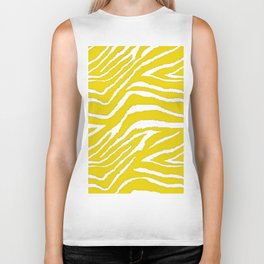 Zebra Golden Yellow Biker Tank