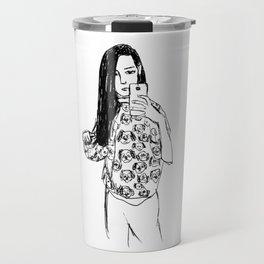 Dalmatian selfie Travel Mug