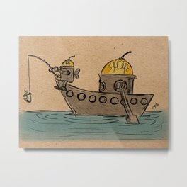 Fishin' Trip Metal Print
