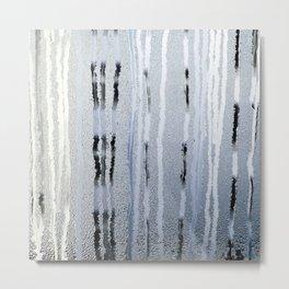 STRIPES BLUE Metal Print