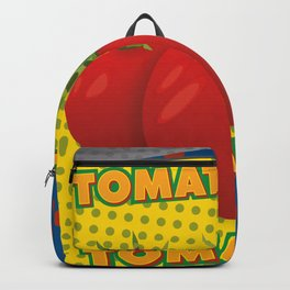 Pop art: canned tomatoes Backpack