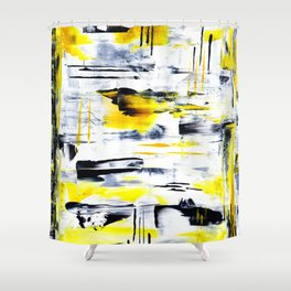 Bumble Bee Abstraction Shower Curtain
