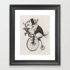 Delivery Rabbit  Framed Art Print