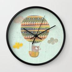 Bear in the air Wall Clock