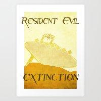 resident evil Art Prints featuring Resident Evil Extinction by JackEmmett