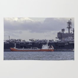 USS George H.W Bush. Rug