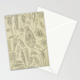 Microscopic Biology Stationery Cards