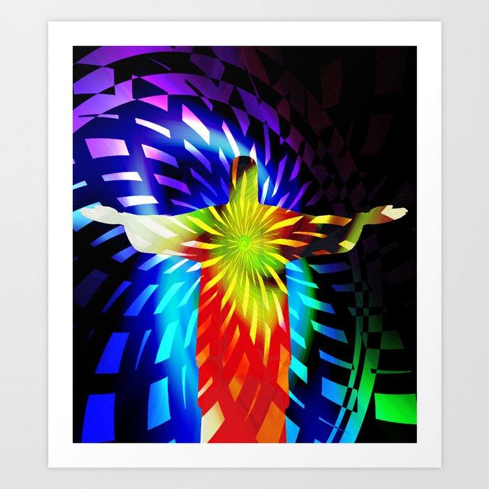 Jesus Christ Eternal Light Art Print