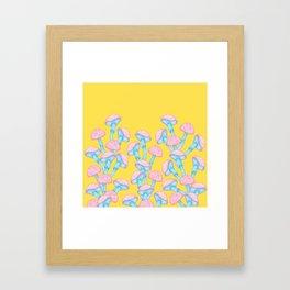 The Garden of Wonderland Mushroom Framed Art Print