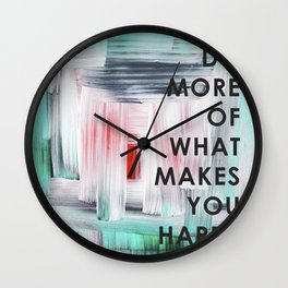 Do more of what makes you happy 2017 Wall Clock