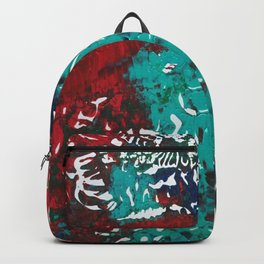 Abstracted Wolf and Kitten Backpack