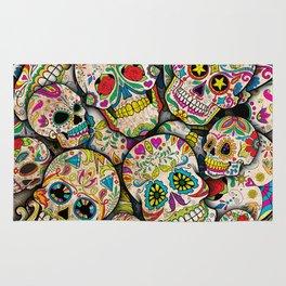 Sugar Skull Collage Rug