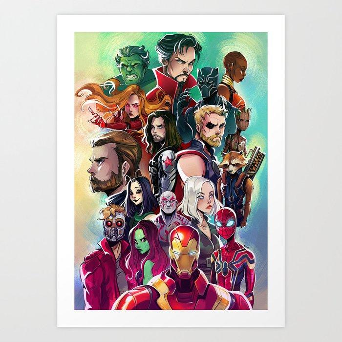 Superheroes Kunstdrucke