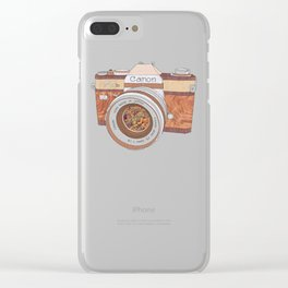 WOOD CAN0N Clear iPhone Case