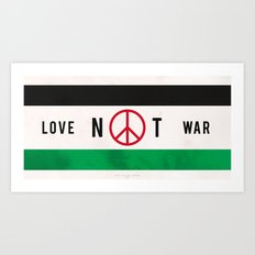 Love Not War 1 Art Print