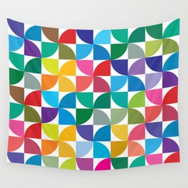 Geometrical work - Colours rotation Wall Tapestry