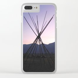 Twilight Tipi Clear iPhone Case