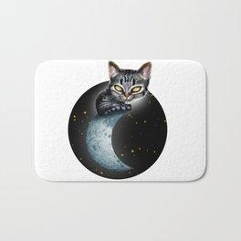 CAT ON THE MOON Bath Mat