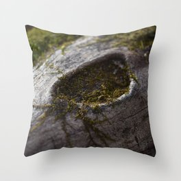Moss & Log Throw Pillow