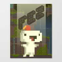 fez Canvas Prints featuring FEZ: Gomez by Retro Zombie