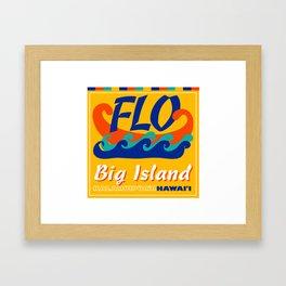 FLO Hawaii Big Island Framed Art Print