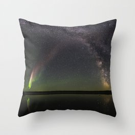 Milky Way and Steve Throw Pillow