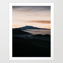 CLOUDY MOUNTAINS Art Print