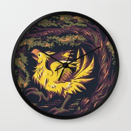 Chocobo with Blossoms Wall Clock