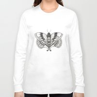moth Long Sleeve T-shirts featuring MOTH by silb_ck