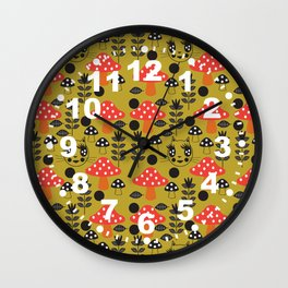 Fashionista Cats Kinoko Wall Clock