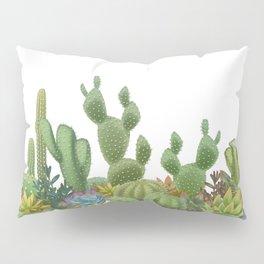 Milagritos Cacti on white background. Pillow Sham