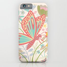 BUTTERFLY LANDING iPhone Case