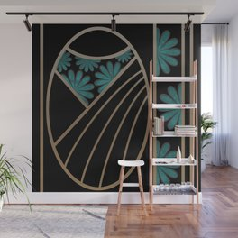 ART DECO FLOWERS (abstract) Wall Mural