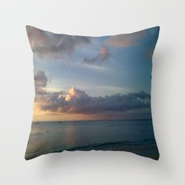 Beautiful Bajan Beach Throw Pillow