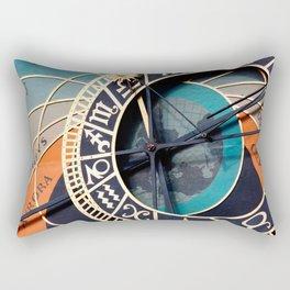 Ancient Medieval Astrological Clock Czech Rectangular Pillow