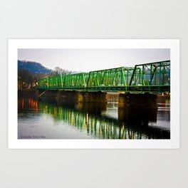Green Bridge blues Art Print