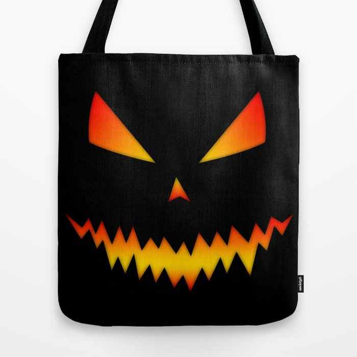 Cool scary Jack O'Lantern Halloween tote bag by PLdesign
