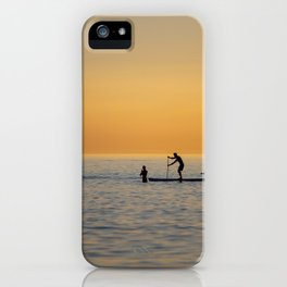 Water sports stand up paddling iPhone Case