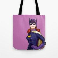 batgirl Tote Bags featuring Batgirl by Rabassa