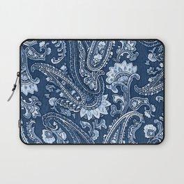 Blue indigo paisley Laptop Sleeve