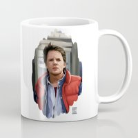 mcfly Mugs featuring Marty McFly by Kaysiell